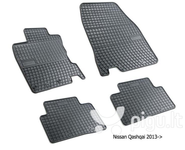 Guminiai kilimėliai Nissan Qashqai II 2013-> /4pc, 0457 kaina ir informacija | Modeliniai guminiai kilimėliai | pigu.lt