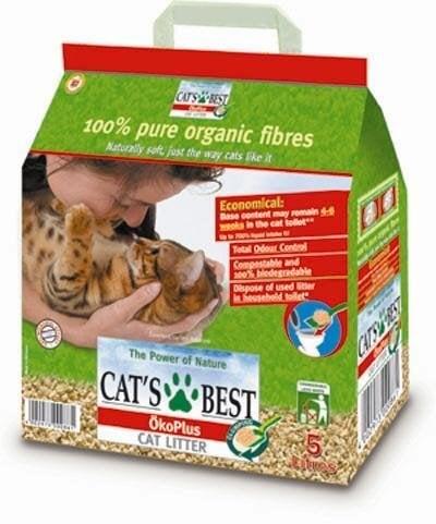 AKCIJA! Cat's Best sušokantis natūralus pjuveninis kačių kraikas Okoplus, 10 l + 2 l DOVANŲ! kaina ir informacija | Kraikas katėms | pigu.lt