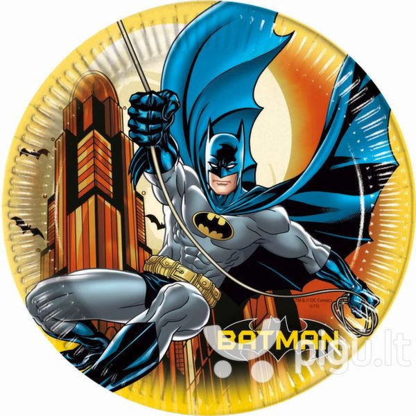 Lėkštutės Betmenas 8 vnt./23 cm kaina ir informacija   Dekoracijos, indai šventėms   pigu.lt