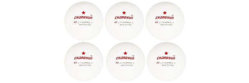 Stalo teniso kamuoliukų rinkinys Changyun* 6 vnt kaina ir informacija | Stalo teniso stalai,  raketės, kamuoliukai | pigu.lt
