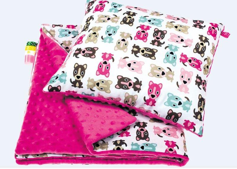 Vaikiškas pledas ir pagalvėlė Šuniukas kaina ir informacija | Lovatiesės ir pledai | pigu.lt