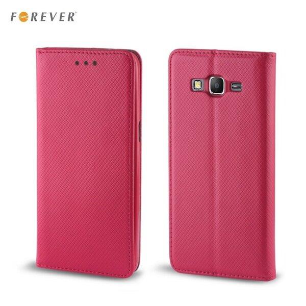 Apsauginis dėklas Forever Smart Magnetic Fix Book skirtas Samsung Galaxy J5 (J500), Rožinis kaina ir informacija | Telefono dėklai | pigu.lt