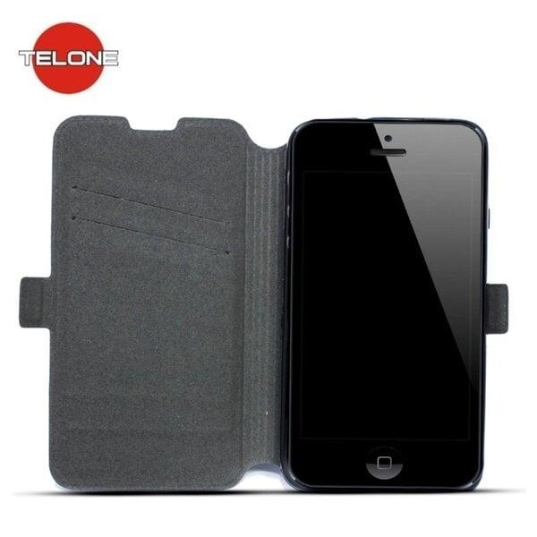 Atverčiamas dėklas Telone Super Slim Shine Book Case skirtas Samsung J120F Galaxy J1 (2016), Juoda kaina ir informacija | Telefono dėklai | pigu.lt