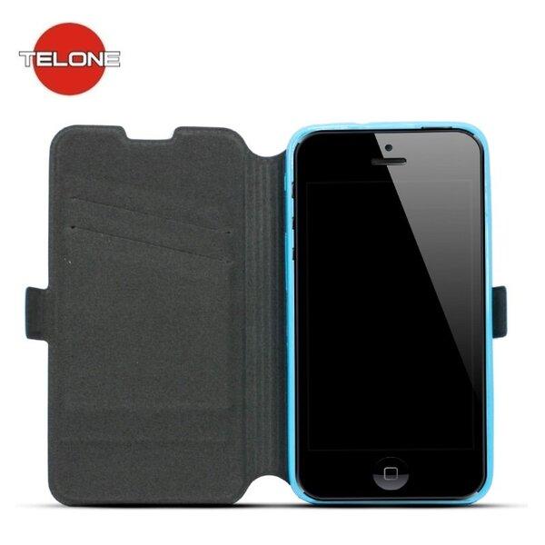 Atverčiamas dėklas Telone Super Slim Shine Book skirtas Samsung Galaxy J3 (J320F), Mėlynas kaina ir informacija | Telefono dėklai | pigu.lt