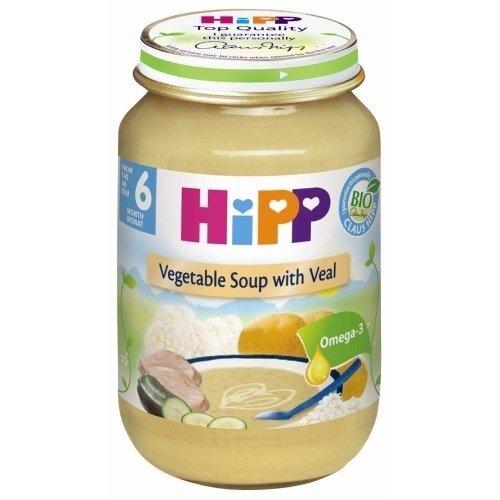 Morkų su ryžiais ir veršiena tyrelė HIPP BIO, nuo 4 mėn., 190g kaina ir informacija | Kūdikių maistas | pigu.lt