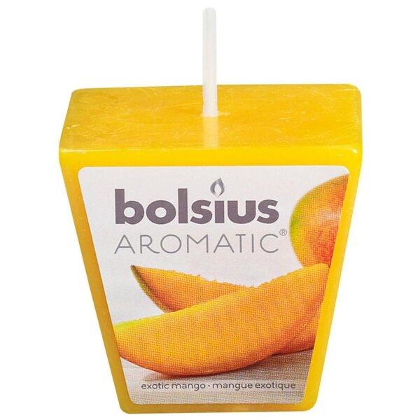 Kvepianti žvakė Aromatic Exotic Mango, 4,8x4,8 cm kaina ir informacija | Žvakidės, žvakės | pigu.lt