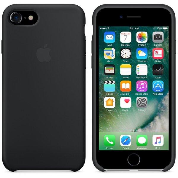 Apsauginis dėklas Apple iPhone 7, Juodas kaina ir informacija | Telefono dėklai | pigu.lt