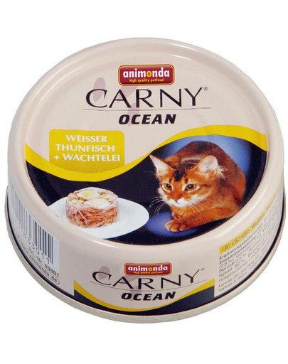 Animonda Carny Ocean konservai su baltu tunu ir putpelių mėsa, 80g kaina ir informacija | Konservai katėms | pigu.lt