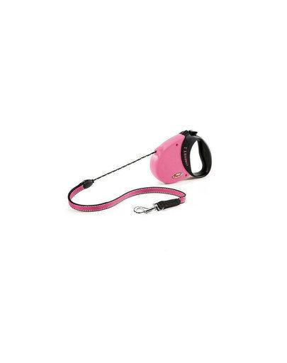 Pavadėlis Flexi Comfort 2, 5m., rožinis kaina ir informacija | Pavadėliai, antkakliai, petnešos šunims | pigu.lt