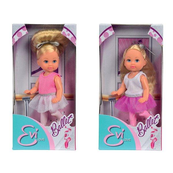 Lėlė balerina Simba Evi Love, 1 vnt., 105730947 kaina ir informacija | Žaislai mergaitėms | pigu.lt