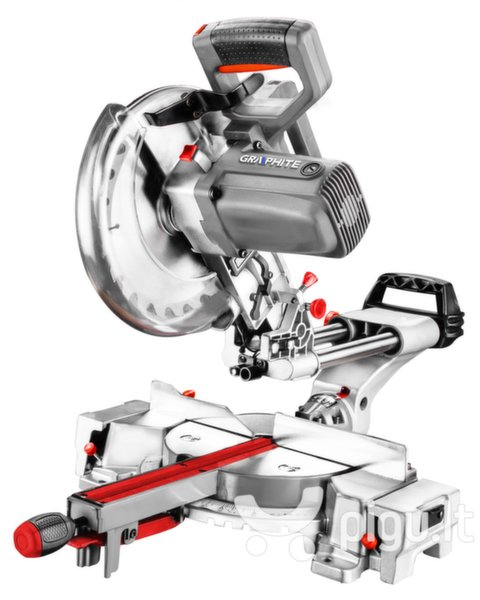 Skersinio pjovimo staklės Graphite 1800W 59G812 kaina ir informacija | Pjūklai, pjovimo staklės | pigu.lt