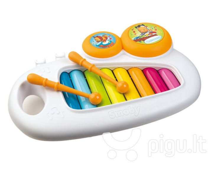 Vaivorykščių spalvų metalofonas Smoby Cotoons, 7600110500 kaina ir informacija | Žaislai kūdikiams | pigu.lt