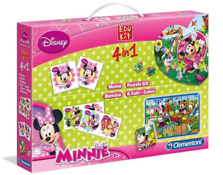 Lavinamųjų žaidimų rinkinys 4in1 Clementoni Disney Minnie kaina ir informacija | Lavinamieji žaislai | pigu.lt