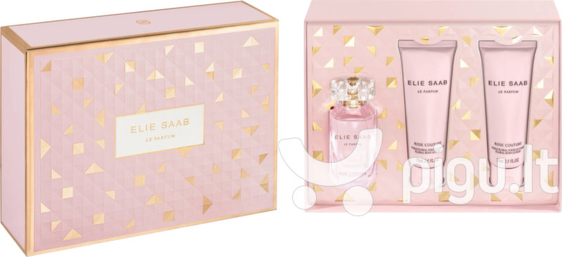 Rinkinys Elie Saab Rose Couture: EDT moterims 50 ml + kūno pienelis 2 x 75 ml kaina ir informacija | Kvepalai moterims | pigu.lt