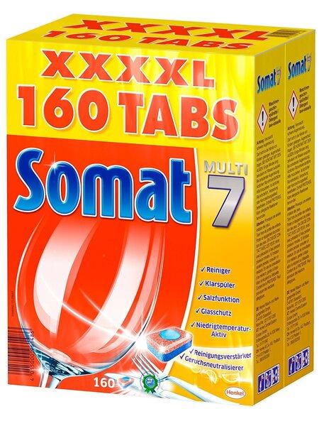 Tabletės indaplovėms SOMAT Multi 7, 160 tab. kaina ir informacija | Indų plovimo priemonės | pigu.lt