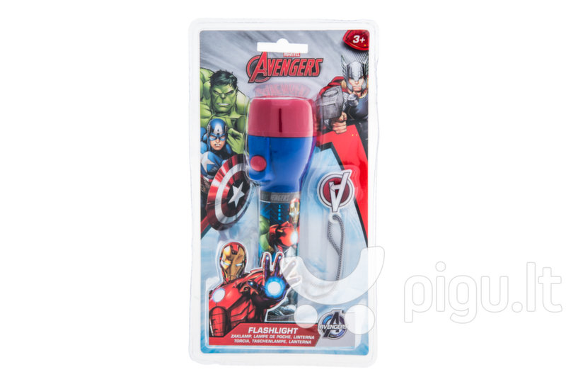 Vaikiškas žibintuvėlis Keršytojai (Avengers) kaina ir informacija | Žaislai berniukams | pigu.lt