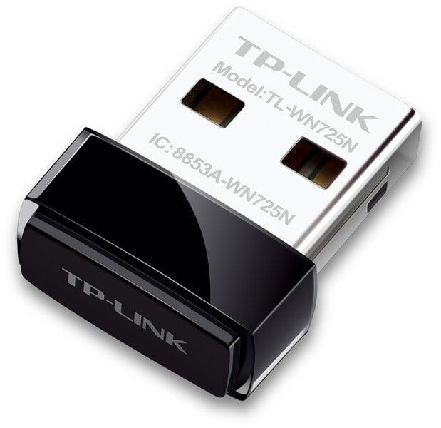 Bevielio tinklo adapteris TP-Link TL-WN725N, 802.11b/g/n, 150Mbps kaina ir informacija | Bevielė tinklo įranga (routeris, modemas) | pigu.lt