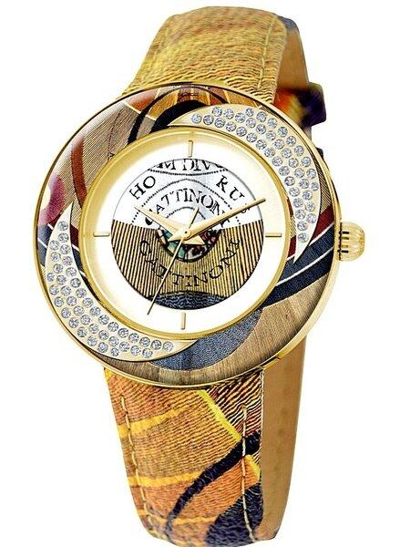 Laikrodis moterims Gattinoni Carina Planetarium Gold kaina ir informacija | Laikrodžiai moterims | pigu.lt