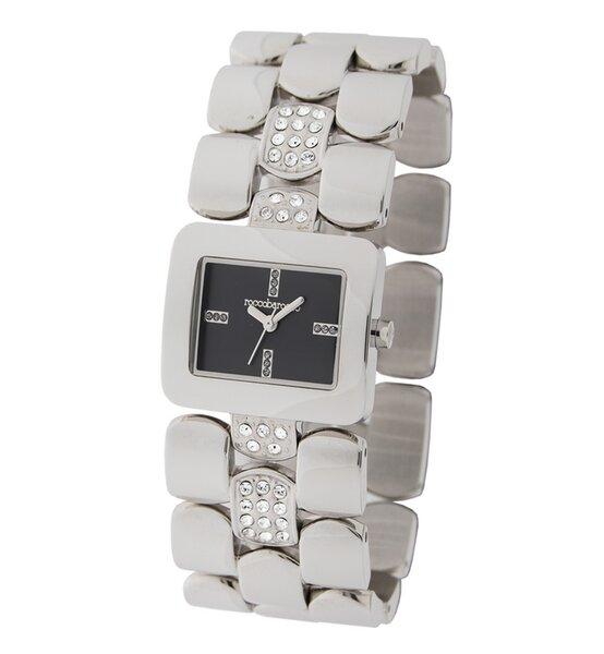 Laikrodis moterims Roccobarocco Bombe Silver Black kaina ir informacija | Laikrodžiai moterims | pigu.lt