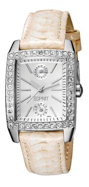 Laikrodis moterims ESPRIT Fame White kaina ir informacija | Laikrodžiai moterims | pigu.lt