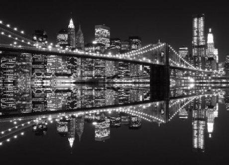 New York (Brooklyn Bridge BW) kaina ir informacija   Fototapetai   pigu.lt