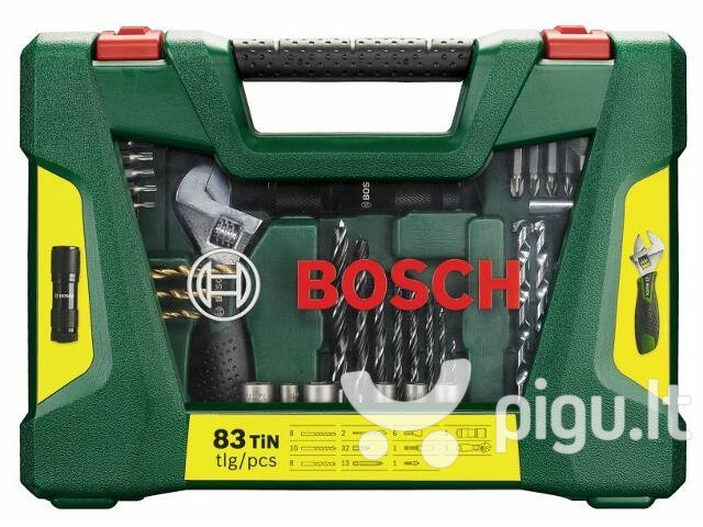 Rinkinys Bosch 83 vnt. V-Line Titanium kaina ir informacija | Mechaniniai įrankiai | pigu.lt