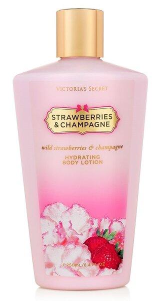 Kūno pienelis Victoria's Secret Strawberries & Champagne moterims 250 ml kaina ir informacija | Parfumuota kosmetika moterims | pigu.lt