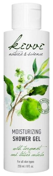 Ekologiškas drėkinantis dušo gelis su bergamote ir japoniniu laureniu Kivvi 250 ml kaina ir informacija | Dušo želė, muilas | pigu.lt