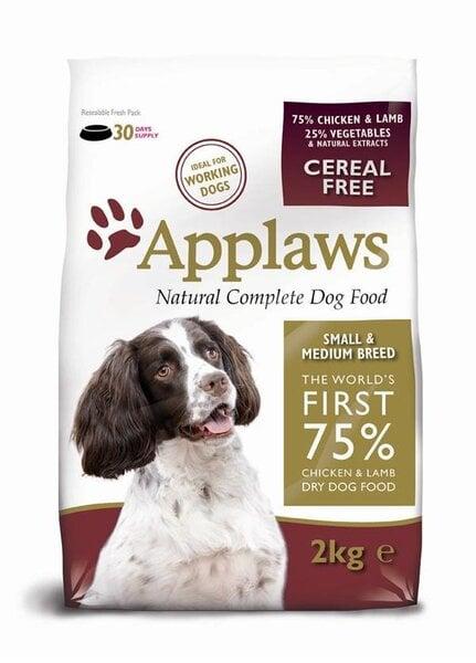 Applaws Chicken & Lamb Small & Medium Breed Adult, 2 kg kaina ir informacija | Sausas maistas šunims | pigu.lt