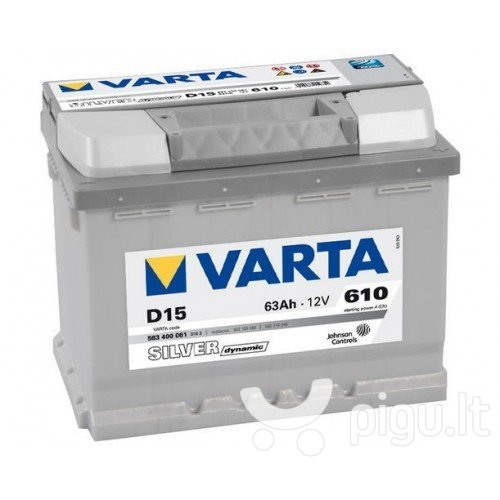 Akumuliatorius VARTA SILVER 63AH 610A D15 kaina ir informacija | Akumuliatoriai | pigu.lt