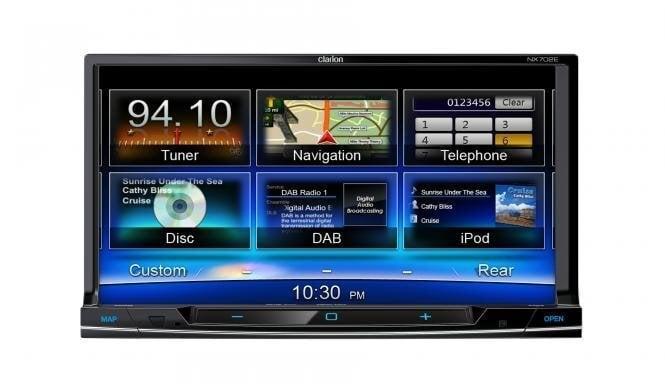 Multimedija centras Clarion NX702E kaina ir informacija | Automagnetolos | pigu.lt