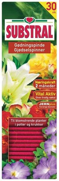 Substral žydinčių augalų trąšų lazdelės 30 vnt. kaina ir informacija | Birios trąšos | pigu.lt
