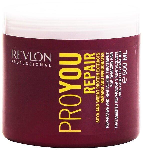 Maitinamoji plaukų kaukė Revlon Professional ProYou Repair 500 ml kaina ir informacija | Priemonės plaukų stiprinimui | pigu.lt