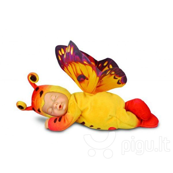 Lėlė Anne Geddes Drugelis F206.572115, geltonas kaina ir informacija | Žaislai mergaitėms | pigu.lt