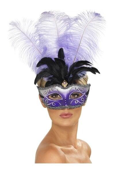 Venecijos kaukė, violetinė kaina ir informacija | Karnavaliniai kostiumai | pigu.lt