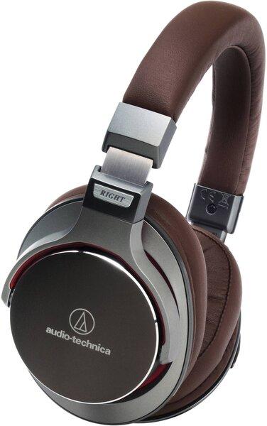 Audio Technica ATH-MSR7BK SonicPro™ su mikrofonu, Rudos kaina ir informacija | Ausinės, mikrofonai | pigu.lt