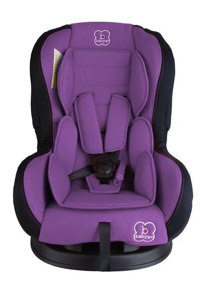 Automobilinė kėdutė BabyGO Tojo 0-18 kg, Violet kaina ir informacija | Automobilinės kėdutės | pigu.lt