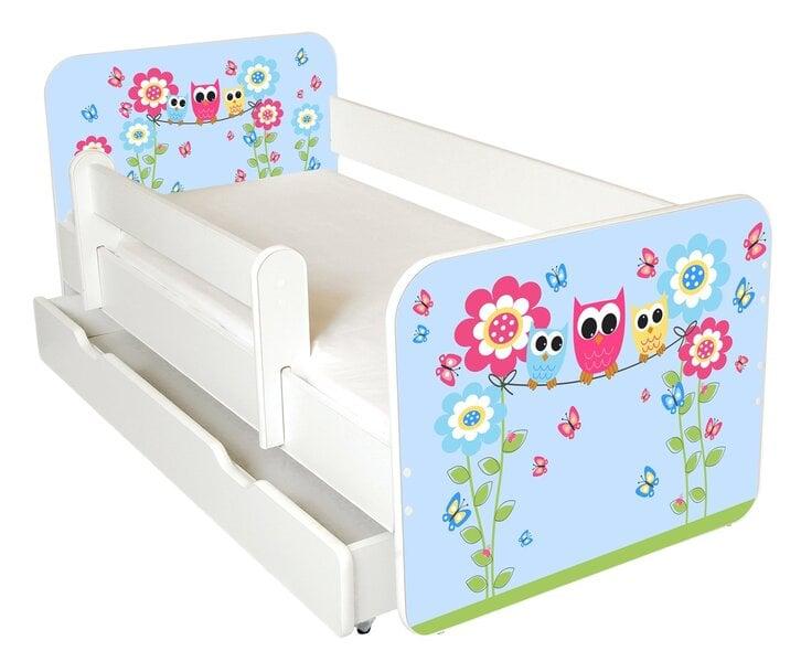 Lova su čiužiniu, patalynės dėže ir nuimama apsauga Ami 44, 140x70cm kaina ir informacija | Vaiko kambario baldai | pigu.lt