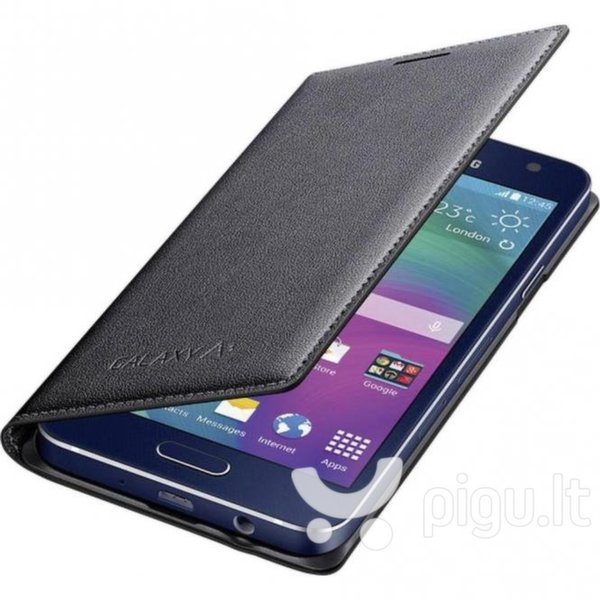 Atverčiamas dėklas Flip Case skirtas Samsung Galaxy A3 (A300F), Juoda kaina ir informacija | Telefono dėklai | pigu.lt