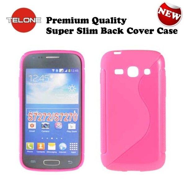 Apsauginis dėklas Telone skirtas Samsung Galaxy Ace 3 (S7272/S7275), Rožinis kaina ir informacija | Telefono dėklai | pigu.lt