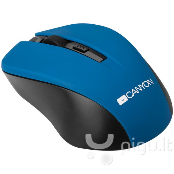 Belaidė pelė Canyon CNE-CMSW1, Mėlyna kaina ir informacija | Pelės | pigu.lt