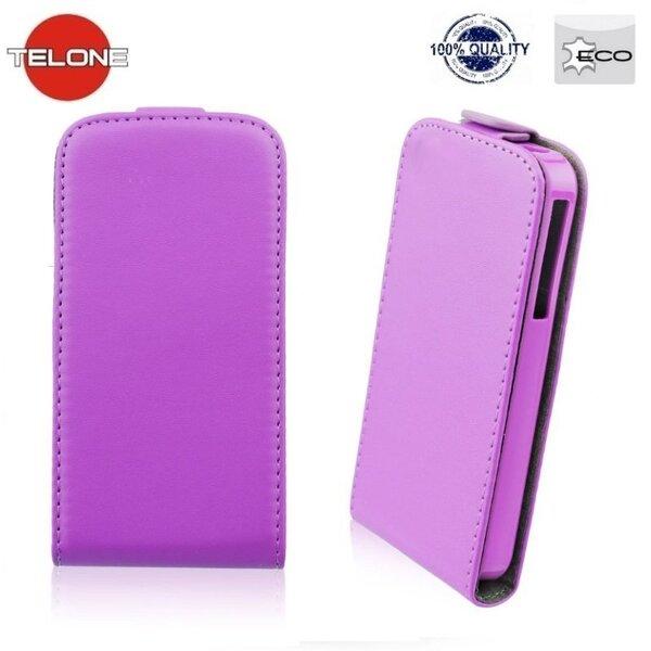 Atverčiamas dėklas Telone Flexi Slim Flip skirtas Sony Xperia Z3 Compact, Violetinė kaina ir informacija | Telefono dėklai | pigu.lt