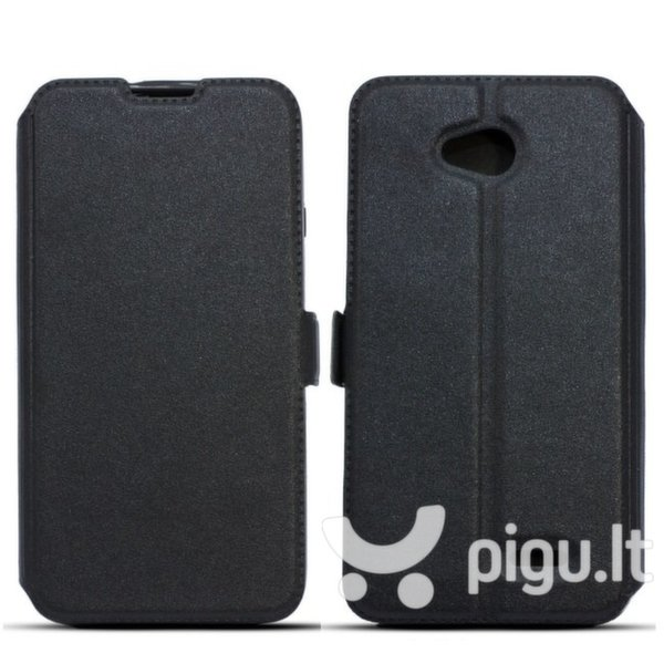 Atverčiamas dėklas Telone Super Slim Shine Book Case skirtas Apple iPhone 5/5S/SE, Juoda kaina ir informacija | Telefono dėklai | pigu.lt