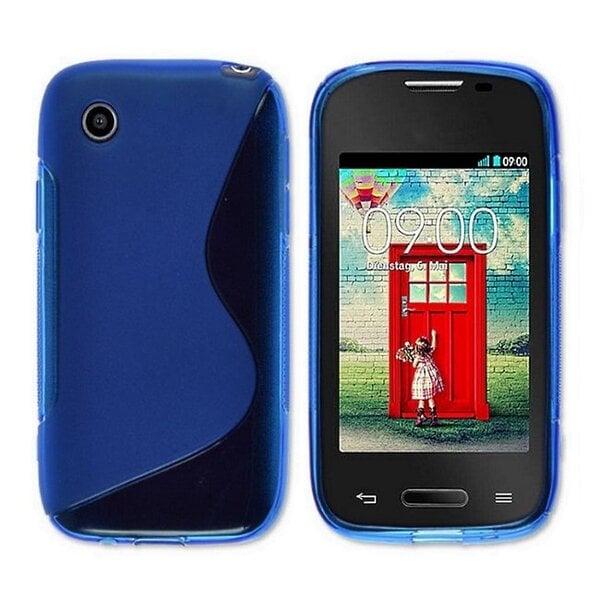 Apsauginis dėklas Telone skirtas LG L40 (D160), Mėlyna kaina ir informacija | Telefono dėklai | pigu.lt