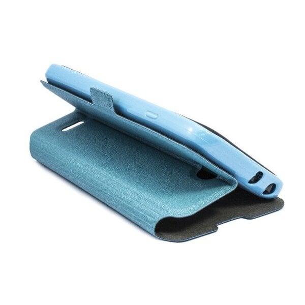Atverčiamas dėklas Telone Super Slim Shine Book skirtas Sony Xperia E3, Mėlyna kaina ir informacija | Telefono dėklai | pigu.lt