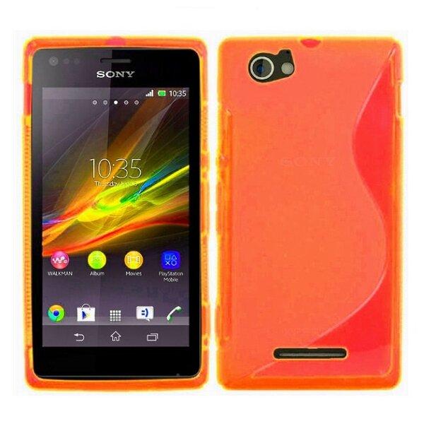 Apsauginis dėklas Telone skirtas Sony Xperia M2, Oranžinė kaina ir informacija | Telefono dėklai | pigu.lt