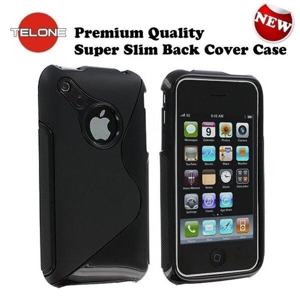 Apsauginis dėklas Telone skirtas Apple iPhone 3G/3GS, Juodas kaina ir informacija | Telefono dėklai | pigu.lt