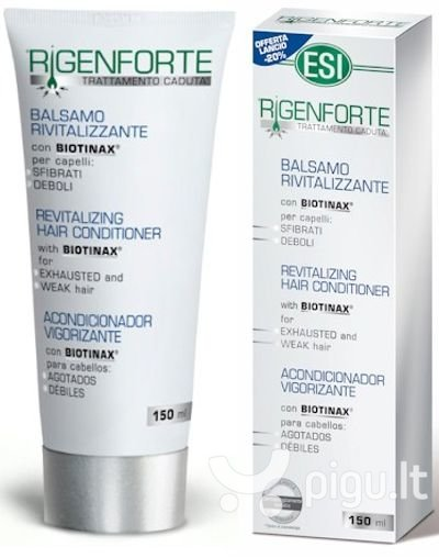 Balzamas plaukų stiprinimui ESI Rigenforte 150 ml kaina ir informacija | Balzamai, kondicionieriai | pigu.lt