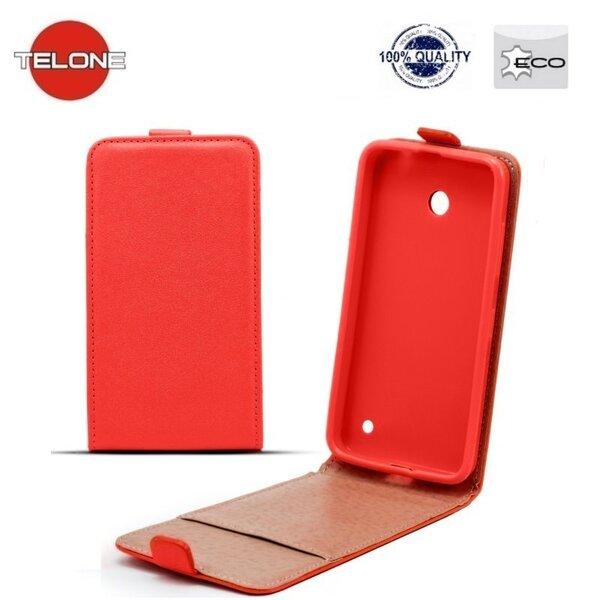 Atverčiamas dėklas Telone Shine Pocket Slim Flip skirtas LG Joy (H220), Raudonas kaina ir informacija | Telefono dėklai | pigu.lt