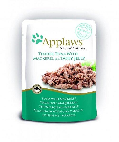 Applaws konservai katėms su tunu ir skumbre želėje, 70 g kaina ir informacija   Konservai katėms   pigu.lt